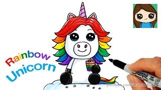 getlinkyoutube.com-How to Draw a Rainbow Unicorn Easy