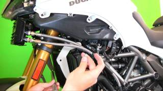 getlinkyoutube.com-AltRider Crash Bars for the Ducati Multistrada 1200 - Install