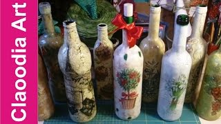 getlinkyoutube.com-Jak zrobić krok po kroku decoupage na butelce? (decoupage on the bottle)