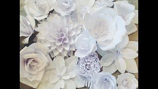 getlinkyoutube.com-Creating a Paper Flower Backdrop: Flower 1