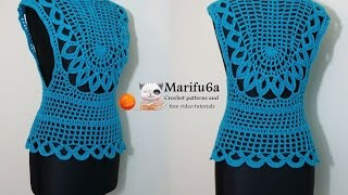 getlinkyoutube.com-How to crochet easy mint top all sizes free pattern tutorial by marifu6a