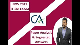 CA IPC NOV 17 IT-SM Paper Analysis & Suggested Answers