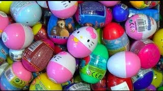 getlinkyoutube.com-250 Kinder surprise and Surprise eggs!!! Cars THOMAS Spider Man TOY Story MARVEL Heroics HELLO KITTY