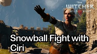 getlinkyoutube.com-The Witcher 3 - Snowball Fight with Ciri