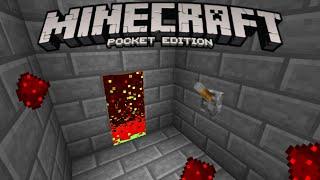 getlinkyoutube.com-Redstone door in Minecraft PE - MCPE Piston alternative ?!?