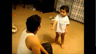 Cute baby arguing