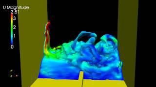 """getlinkyoutube.com-OpenFOAM """"Breaking of a Dam"""" Simulation Half Water HD"""