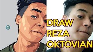 getlinkyoutube.com-Draw Reza Oktovian - Vector Vexel Portrait Photoshop