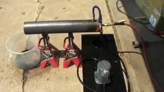 getlinkyoutube.com-Homemade Babington Ball Waste Oil Burner Boiler Furnace - Part 1
