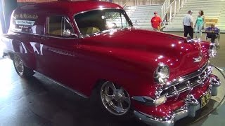 getlinkyoutube.com-1954 Chevrolet Sedan Delivery Street Rod ScottieDTV Traveling Charity Road Show 2014