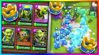 "getlinkyoutube.com-WHAT HAPPENS IF YOU USE an ""ALL GOBLIN GANG"" DECK in Clash Royale!?"