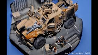 "getlinkyoutube.com-MRAP MATV ""54""  Diorama Build in 1/35"