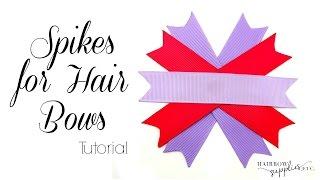 getlinkyoutube.com-How to Make a Spikes for Hair Bows