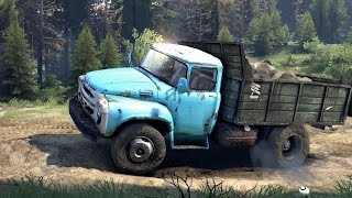 SPINTIRES 2014 - The River Map - ZIL 130 Truck Overloaded with Rocks