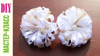 getlinkyoutube.com-Симпатичные Бантики на Резинках / Ribbon Hair Bow Tutorial ✿ NataliDoma