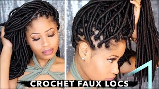 How To ➟ CROCHET FAUX LOCS 🔥 (NO cornrows, NO wrapping, free-parting!)