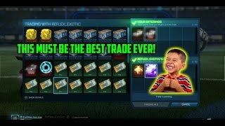 BEST TRADE EVER ON ROCKET LEAGUE FOR A MYSTERY DECAL THAT ISN'T SETUP | MOST PROFITED TRADE EVER!