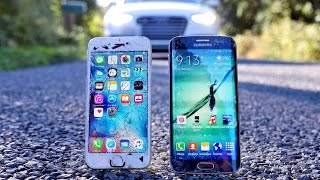 getlinkyoutube.com-iPhone 6S vs Samsung Galaxy S6 Edge Drop Test!