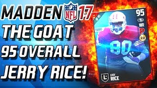 getlinkyoutube.com-THE GOAT! JERRY RICE 95 OVERALL! - Madden 17 Ultimate Team