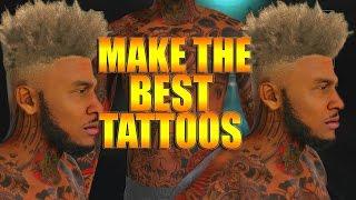 getlinkyoutube.com-NBA 2K16 Tips/Tricks - Full Arm Sleeve Tattoo Tutorial | How To Make The Best Tattoos