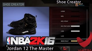 getlinkyoutube.com-How to create Jordan 12 The Master's in NBA 2k16
