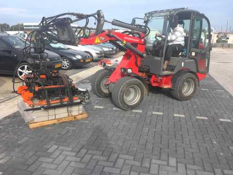 Machinaal bestraten bkk bij fitland in sittard door duinkerken bestrating