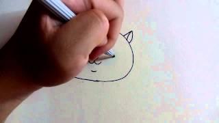 getlinkyoutube.com-วาดการ์ตูนกันเถอะ สอนวาดการ์ตูนแมว ง่ายๆ หัดวาดตามได้เลย