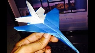 getlinkyoutube.com-origami plane اوریگامی هواپیما اف شانزده