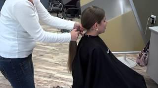 getlinkyoutube.com-Laura donating hair to locks of luv
