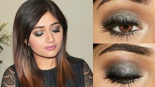 getlinkyoutube.com-Sangeet Makeup Tutorial : Blue Gold Smoky Eye | corallista