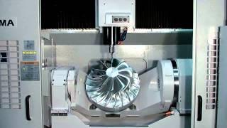 getlinkyoutube.com-Okuma's 5-Axis Vertical Machining Center, MU-500VA