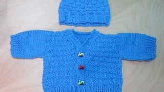 getlinkyoutube.com-How to Knit newborne baby sweater part #1. With Ruby Stedman