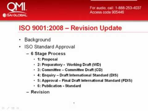 Revision Of ISO 9001:2008 In ISO 9000 Standards