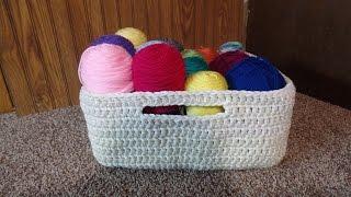 getlinkyoutube.com-CROCHET How to #Crochet Easy Large Multipurpose Basket #TUTORIAL #214 LEARN CROCHET
