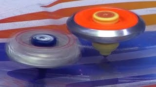 getlinkyoutube.com-Beyblade Battle Series Battle 3 Beyblade Legends Burn Fireblaze Vs Lighting L-drago Battle