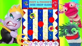 Disney Princesses Play the Fizzy and Phoebe Disk Drop Game