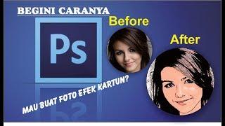 getlinkyoutube.com-Cara mudah belajar photoshop membuat foto efek kartun