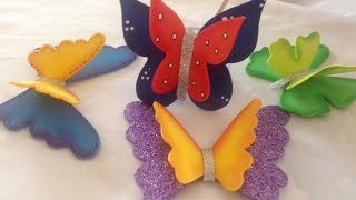getlinkyoutube.com-Mariposas tridimensionales en goma eva