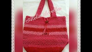 Bolsa em croche  *vermelha
