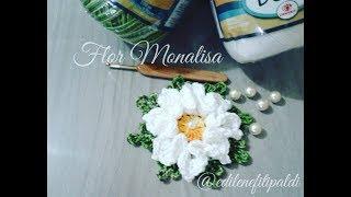 """getlinkyoutube.com-Flor Monalisa #Coleção """"Minhas flores em Crochê"""""""