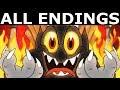Cuphead ALL ENDINGS - Join The Devil Or Refuse The Devils Offer Bad & Good Ending + Final Boss