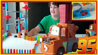 JOUET disney CARS toys DOMINO lightning Mc Queen#GIANT CIRCUIT DOMINO PIXAR CARS