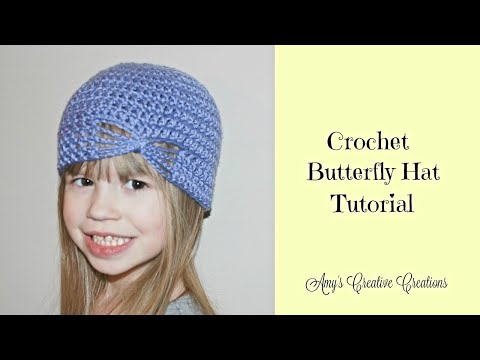 Crochet Butterfly Hat Tutorial (All Sizes)