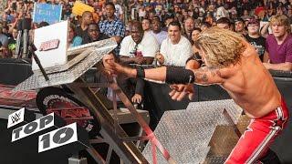 getlinkyoutube.com-Superstars Demolishing WWE Equipment - WWE Top 10