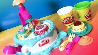 getlinkyoutube.com-Massinhas Play Doh Fábrica de Bolos | Play Doh Dolci Dolcezze | Fábrica de Tartas.