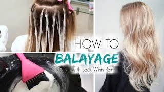 getlinkyoutube.com-How to Balayage Hair | Freehand Painting
