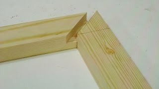 Make mitered half laps on the table saw