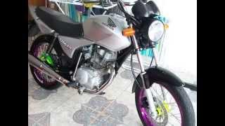 getlinkyoutube.com-Titan 150 Prata Transformação... Gaboy Canoas RS