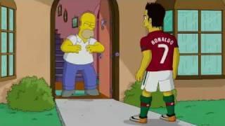 getlinkyoutube.com-Cristiano Ronaldo Vs Homer Simpson ( The Simpsons )