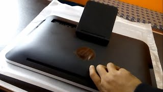 How to open back cover of HP 20 All-in-One (2115il) and upgrade DDR3 RAM